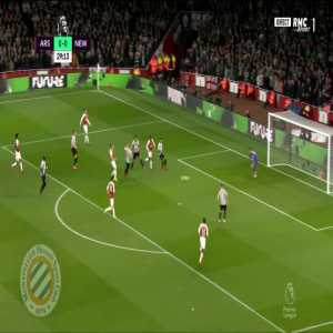 Arsenal [1]-0 Newcastle : Ramsey 30'