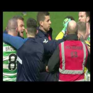 Celtic V Rangers Fight After Game