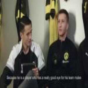 Marco Reus & Axel Witsel both pick the best player they've ever played with