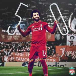 Salah is Liverpool fastest player to reach 50 league goals. He's done so in 69 matches. Nice.