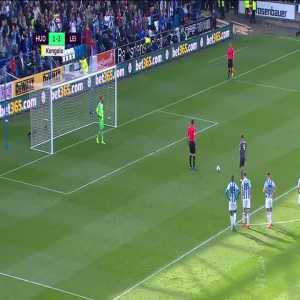 Huddersfield 1-[4] Leicester City: Vardy PK + Foul