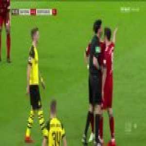 Reus shoves Lewandowski out of frustration