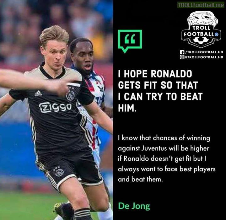 Ajax And De Jong Are Very Confident!!!