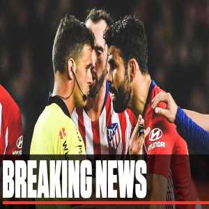 Diego Costa has been banned for eight games after making crude remarks about the referee's mother during Atletico's 2-0 loss to Barcelona. He will not play again this season.