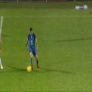 AC Ajaccio 1-[2] Grenoble Foot 38 - N. Belvito 71' - Goal from halfway line