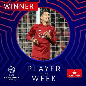 Roberto Firmino wins UCL's Player of the Week
