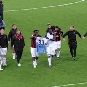 Bakayoko and Kessie with Acerbis Jersey After The Match