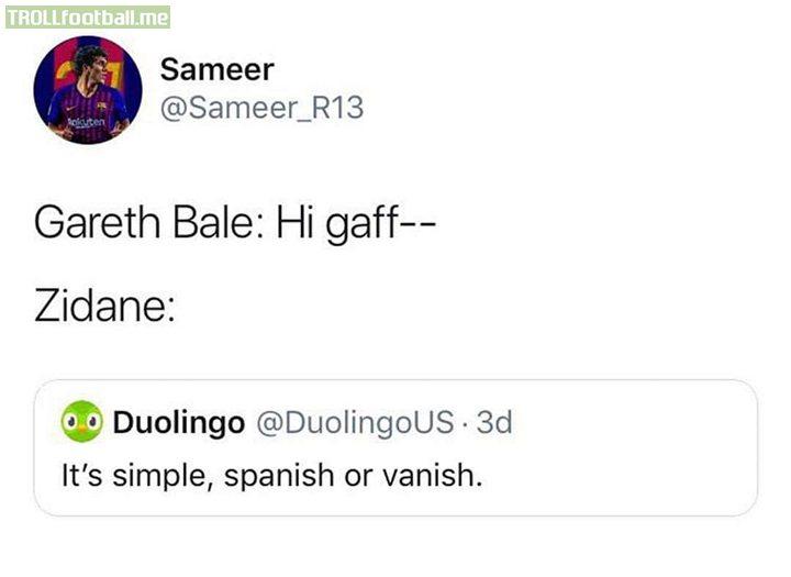 Bye bye Bale 😂