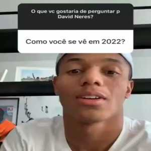 """David Neres' vision for 2022. When asked what he sees for the WC year 2022, he replies with """"in 2022 I see myself being a tall, bearded black guy."""""""