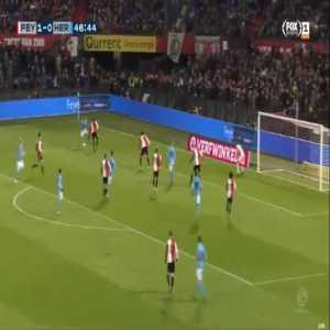 Feyenoord 1-[1] Heracles - Kristoffer Peterson 47'