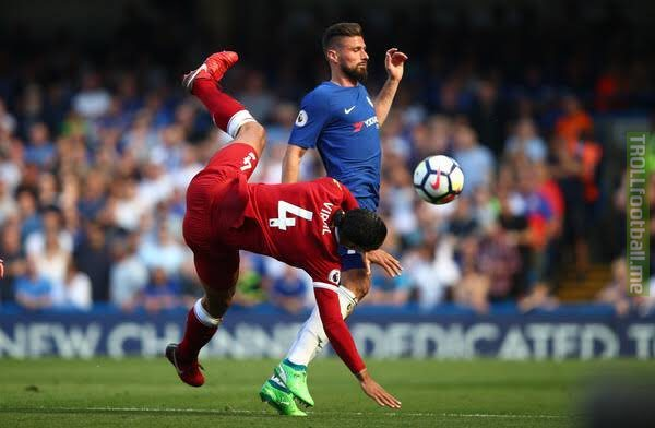 "Giroud on Van Dijk: ""I played against him in the Netherlands when we played recently but I won last year and scored at Stamford Bridge and scored the winner at the Stade de France against the Netherlands a few months ago."" Should he start over Higuain tomorrow?"