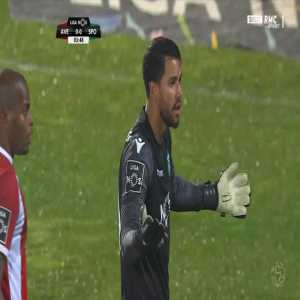 Renan Ribeiro (Sporting) straight red card against Aves 4'