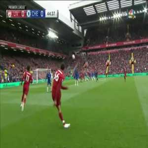 Kepa with a good reaction save to keep Liverpool out - Liverpool 0 - 0 Chelsea