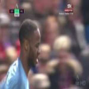 Raheem Sterling misses a sitter against Crystal Palace