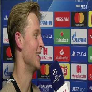 "De Jong: ""It was more difficult in Madrid."""
