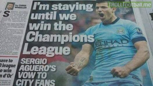 BREAKING: Sergio Aguero signs 50 year contract extension at Man City! 😂😂😂