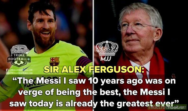 Sir Alex Ferguson On Lionel Messi!😱🐐🔥