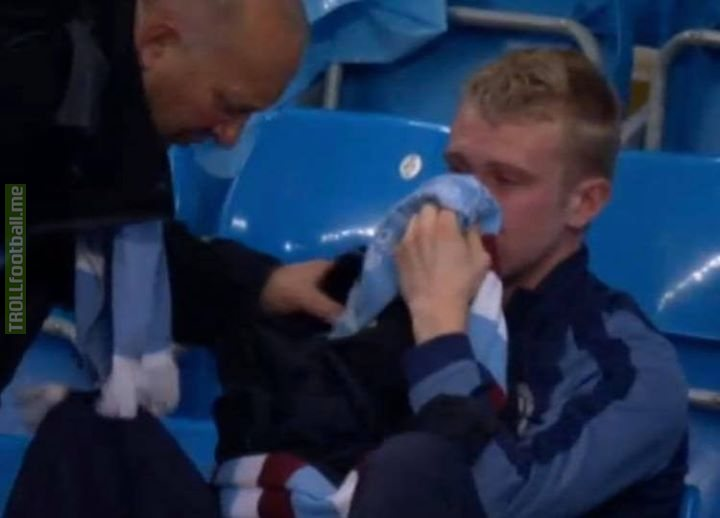 A Man City fan crying... What football is all about! 🙌🏼