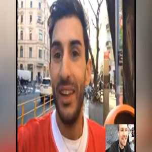 Alvaro, the Benfica Lissabon Fan who drove to Frankfurt (Oder) instead of Frankfurt (am Main) is now in Berlin and held an interview with Dazn Germany via Facetime