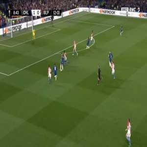 Chelsea 2-0 Slavia Praha [3-0 on agg.] - Simon Deli OG 9'