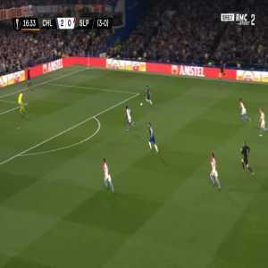 Chelsea 3-0 Slavia Praha [4-0 on agg.] - Olivier Giroud 17'