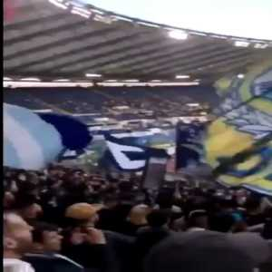 """Lazio's Curva Nord with racist chants directed towards Bakayoko during the game against Udinese yesterday: """"This banana is for you Bakayoko"""""""