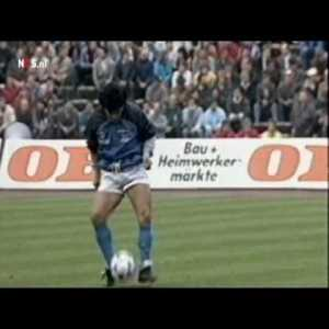 Exactly 30 years ago Maradona performed his legendary warm up before the UEFA Cup Semi Final.