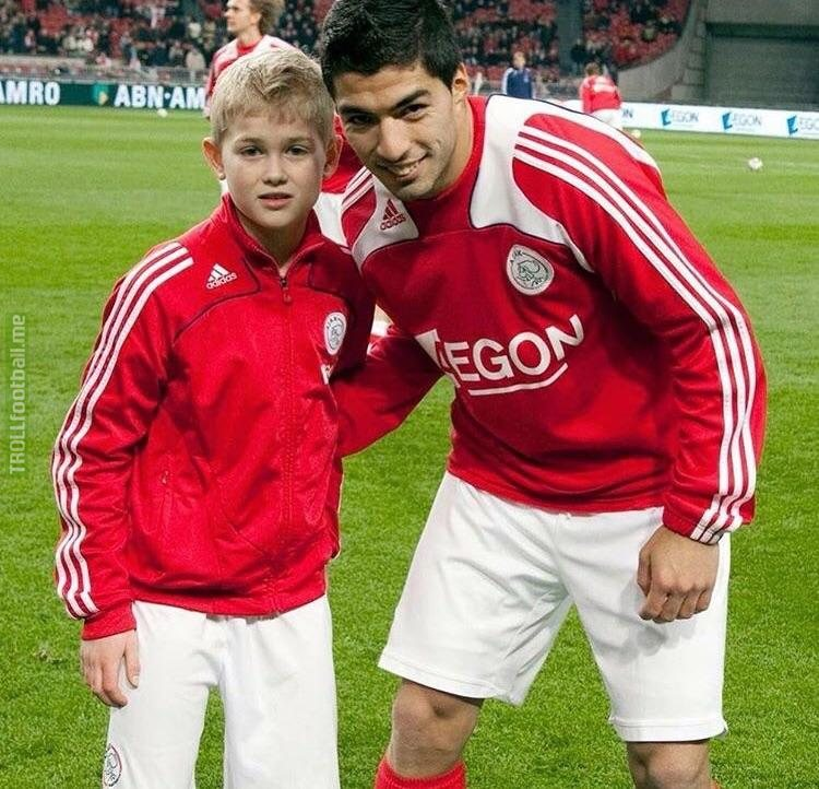 Suarez and a young Matthijs de Ligt