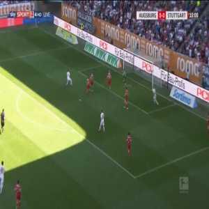 Augsburg 1-0 Stuttgart - Rani Khedira 10'