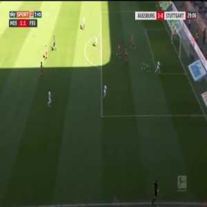 Augsburg 3-0 Stuttgart - Philipp Max 29'