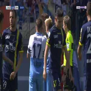 Sergej Milinkovic-Savic (Lazio) straight red card against Chievo 34'