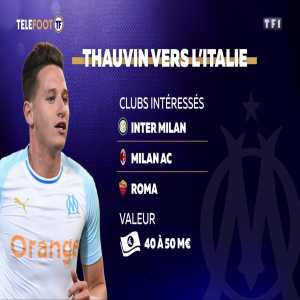 According to Telefoot info, Florian Thauvin is expected to leave OM at the end of the season. The interested clubs are Inter, Roma and AC Milan. Inter Milan on condition that José Mourinho does not return