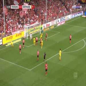 Freiburg 0-1 Dortmund - Jadon Sancho 12'