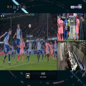 Alaves 0-2 Barcelona - Luis Suarez penalty 60'
