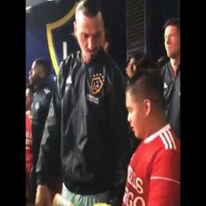 "Zlatan inspiring this young kid with a little Ibrahimovic wisdom: ""You have to enjoy the moment."