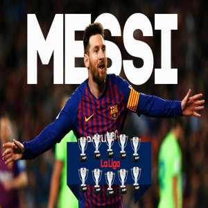 Lionel Messi's 10 La Liga titles is the most any Barcelona player has managed in history, surpassing Andres Iniesta.