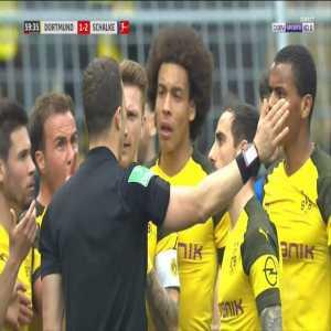 Marco Reus straight red card against Schalke 60'