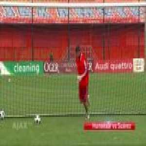 Incredible save Klaas-Jan Huntelaar on Luis Suarez shot