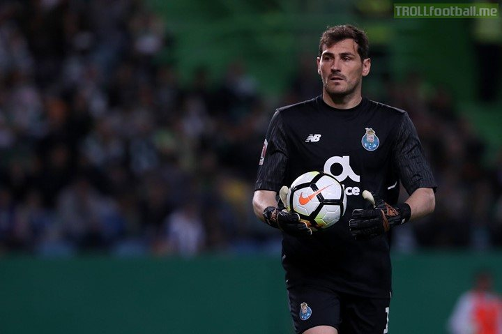 Iker Casillas has been hospitalised after suffering a heart attack during Porto training.  Wishing him a speedy recovery. 🙌