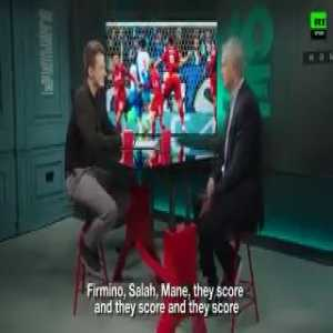 """Mourinho: """"Liverpool's strength: Van Dijk is phenomenal and every game Firmino, Salah, Mane, they score and score and score. Last season, Liverpool played the final and this year they are in the semis with a 50% chance of being in the final. I think they are better than last season."""""""