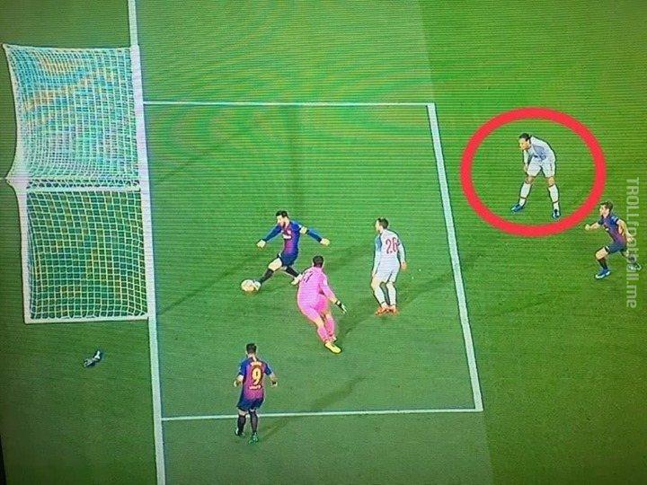 Premier League's best player using telekinesis to stop Messi!!
