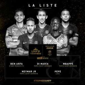 Ligue 1 POTY Nominees: Mbappé, Neymar, Di Maria, Pépé, Ben Arfa