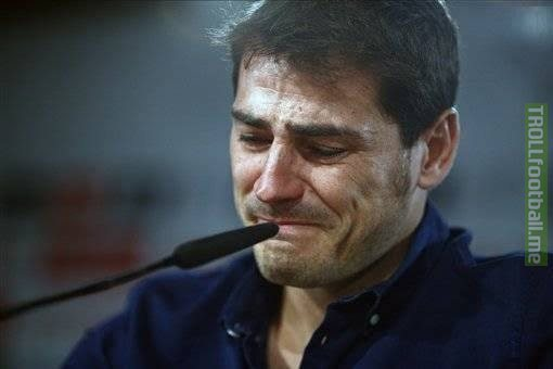 Official : Casillas wont play football again!😭💔  (Source : Bein Sports)