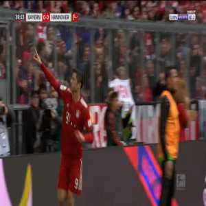 Bayern 1-0 Hannover - Robert Lewandowski 27'