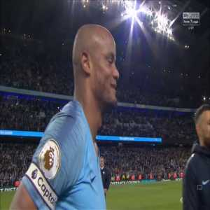 """Aguero to kompany after the match: """"I tell you, don't shoot! No vinnie!"""""""