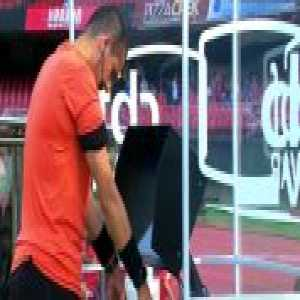 Brazilian referee prays to and blesses VAR before a match