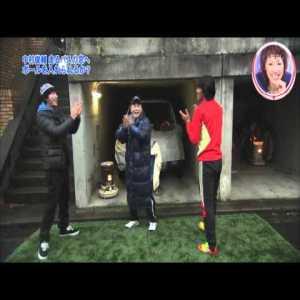 Japanese Game Show where they make Celtic's Shunsuke Nakamura kick a ball into a moving bus.