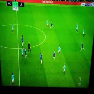 Vincent Kompany dangerous slip against Leicester