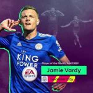 5 goals in 4 matches...  Jamie Vardy wins the EA Sports Player of the Month for April 🎉