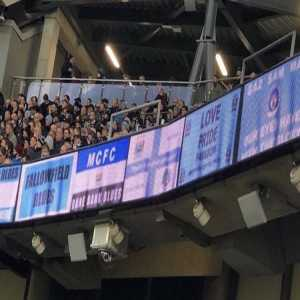 Man City portrayed digital fan banners in their game vs Leicester City